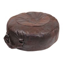 Pouf darkbrown without a coating